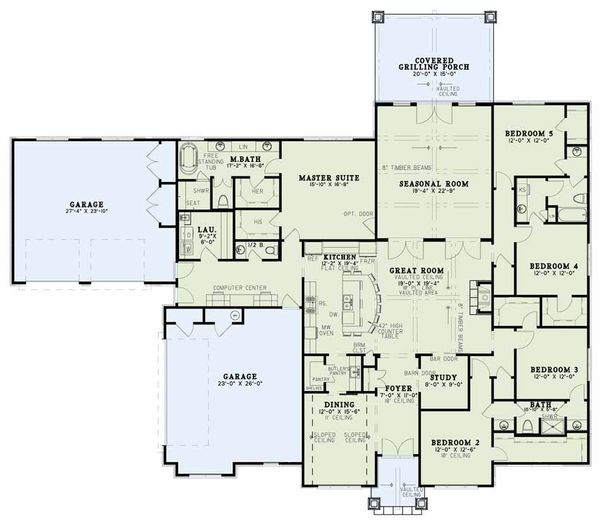 Craftsman Floor Plan - Main Floor Plan Plan #17-2609