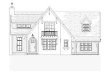 Country Exterior - Front Elevation Plan #901-1