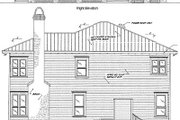 Beach Style House Plan - 3 Beds 2 Baths 2172 Sq/Ft Plan #37-129 Exterior - Rear Elevation