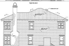 Beach Exterior - Rear Elevation Plan #37-129