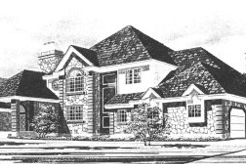 Dream House Plan - Traditional Exterior - Front Elevation Plan #5-224