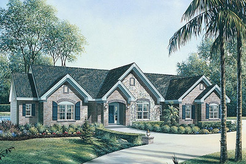 Traditional Exterior - Front Elevation Plan #57-322 - Houseplans.com