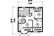 Traditional Style House Plan - 3 Beds 1.5 Baths 1169 Sq/Ft Plan #25-4501 Floor Plan - Upper Floor