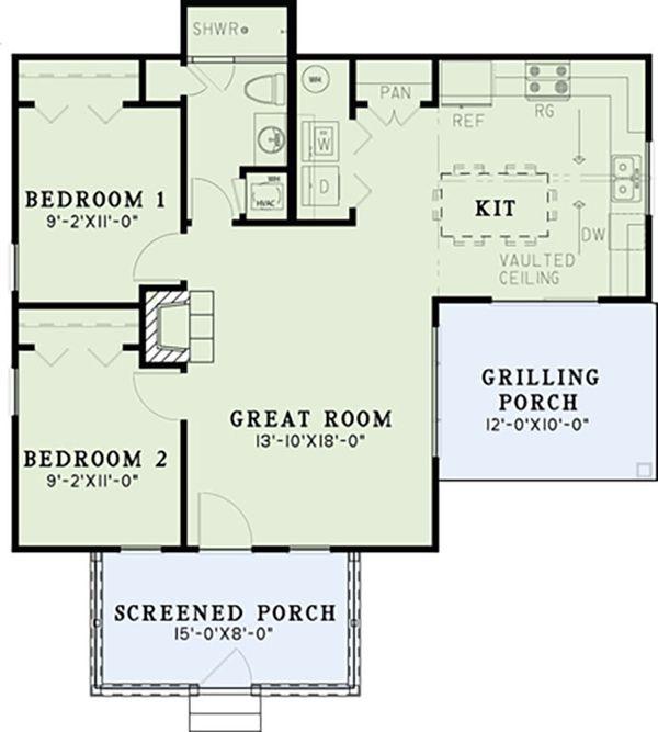 Country Floor Plan - Main Floor Plan Plan #17-2607