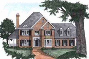 Southern Exterior - Front Elevation Plan #129-131