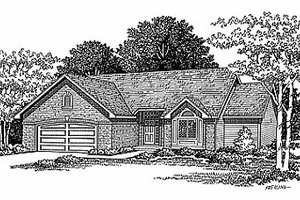 Traditional Exterior - Front Elevation Plan #70-163