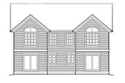 Traditional Style House Plan - 3 Beds 2.5 Baths 1452 Sq/Ft Plan #48-153 Exterior - Rear Elevation