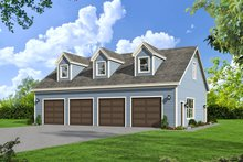 Dream House Plan - Country Exterior - Front Elevation Plan #932-184