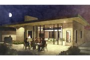 Modern Style House Plan - 3 Beds 2 Baths 2052 Sq/Ft Plan #498-4 Exterior - Outdoor Living