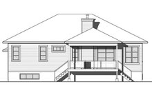Home Plan - Ranch Exterior - Rear Elevation Plan #23-2623