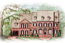 Dream House Plan - Colonial Exterior - Other Elevation Plan #54-121