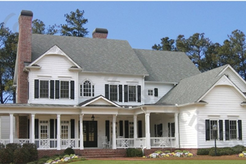 Farmhouse Style House Plan - 5 Beds 5.5 Baths 5209 Sq/Ft Plan #54-103 Exterior - Front Elevation