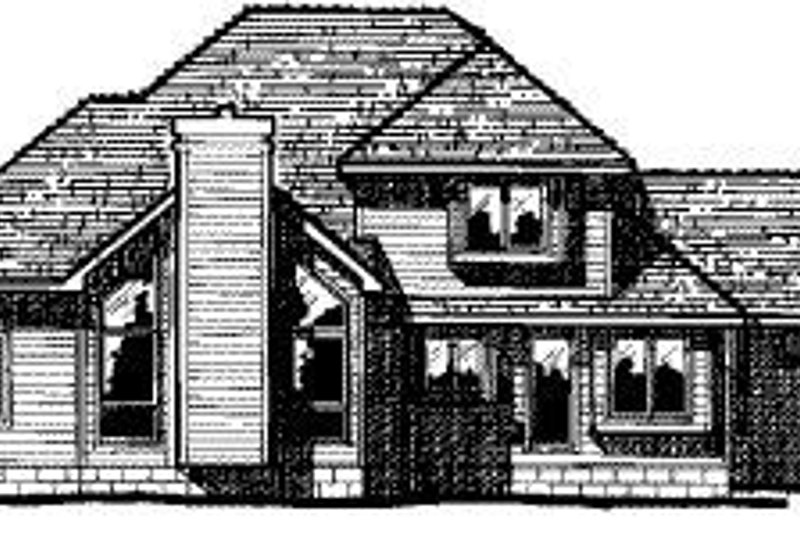Traditional Exterior - Rear Elevation Plan #20-718 - Houseplans.com