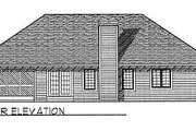 Traditional Style House Plan - 3 Beds 2 Baths 1617 Sq/Ft Plan #70-161 Exterior - Rear Elevation