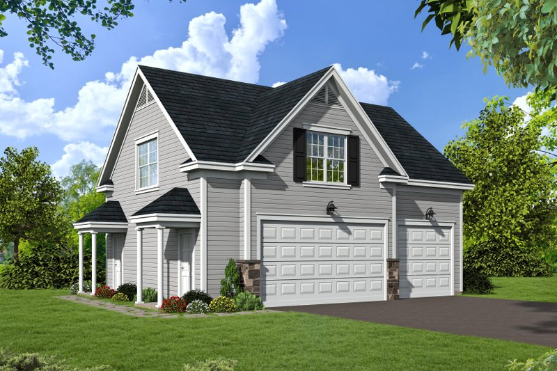 Architectural House Design - Country Exterior - Front Elevation Plan #932-16