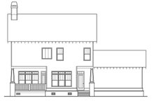 Craftsman Exterior - Rear Elevation Plan #419-261