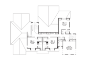 Colonial Style House Plan - 4 Beds 5 Baths 4903 Sq/Ft Plan #48-642 Floor Plan - Upper Floor Plan