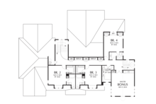 Upper Level Flloor Plan - 4900 square foot Colonial