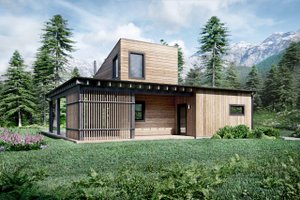 House Design - Cabin Exterior - Front Elevation Plan #924-16
