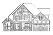 Craftsman Exterior - Front Elevation Plan #17-2160