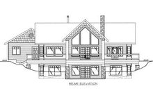 Cabin Exterior - Rear Elevation Plan #117-512