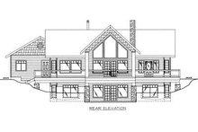 Dream House Plan - Cabin Exterior - Rear Elevation Plan #117-512
