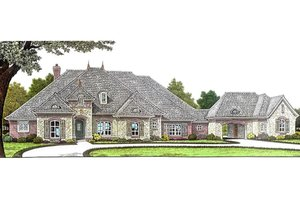 Dream House Plan - European Exterior - Front Elevation Plan #310-685