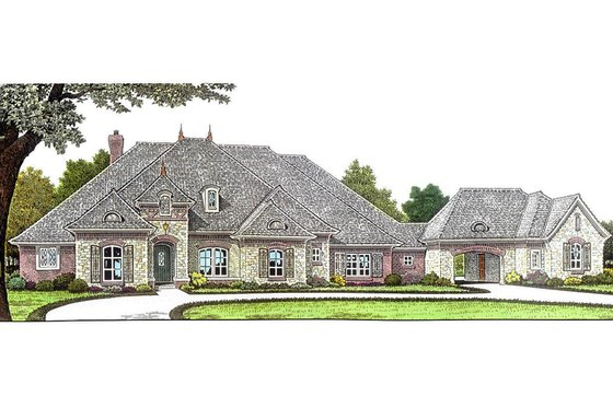 European Exterior - Front Elevation Plan #310-685