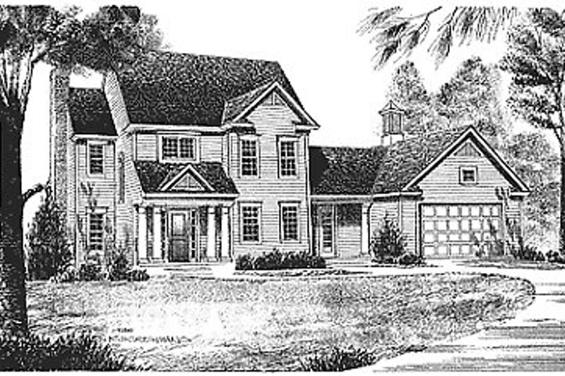Dream House Plan - Traditional Exterior - Front Elevation Plan #70-186