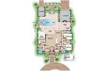 Southern Floor Plan - Main Floor Plan Plan #27-501