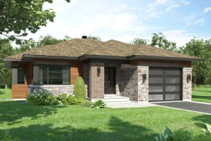 House Blueprint - Modern Exterior - Front Elevation Plan #23-2699