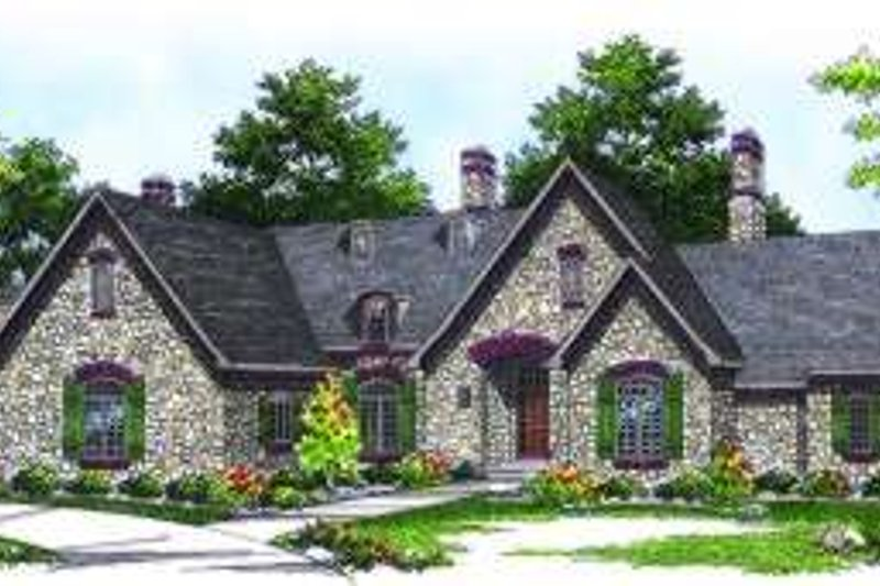 European Exterior - Front Elevation Plan #70-793 - Houseplans.com