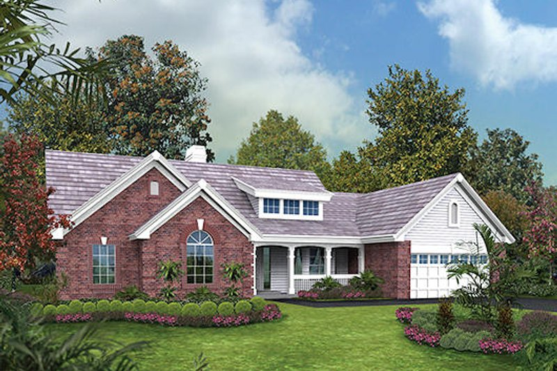 Traditional Exterior - Front Elevation Plan #57-362 - Houseplans.com