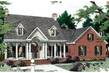 House Plan Design - Southern Exterior - Front Elevation Plan #406-118