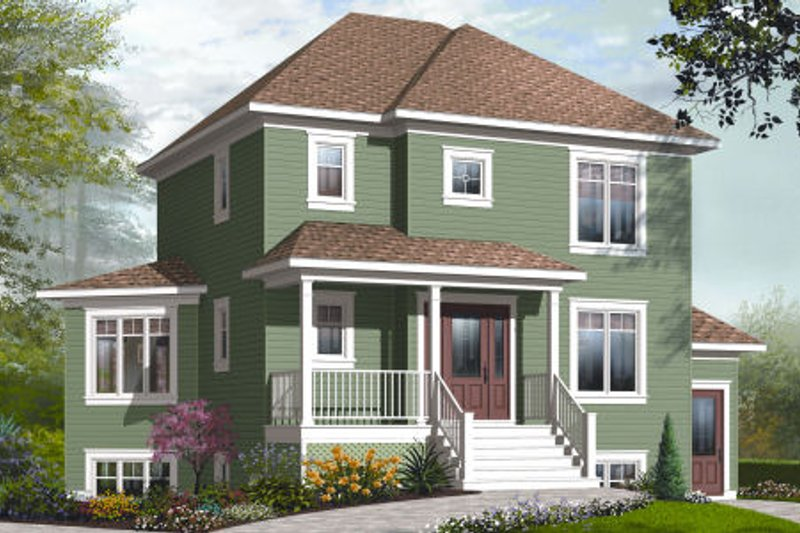 Country Exterior - Front Elevation Plan #23-2191