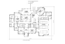 European Floor Plan - Main Floor Plan Plan #1054-30