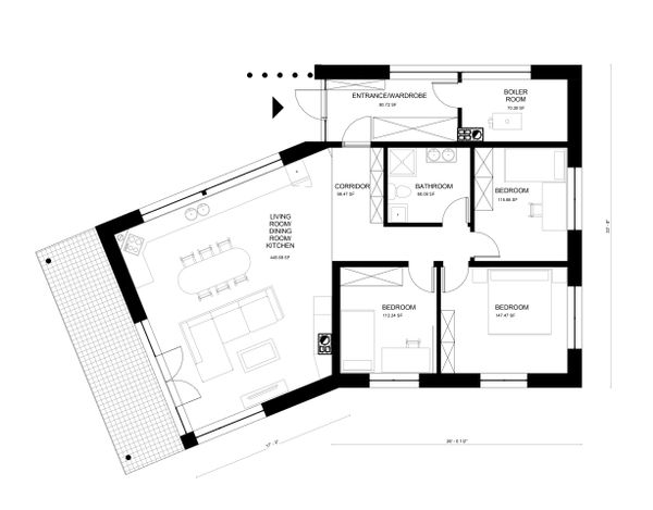 Modern Floor Plan - Main Floor Plan Plan #906-25