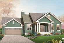Home Plan - Bungalow Exterior - Front Elevation Plan #23-2611