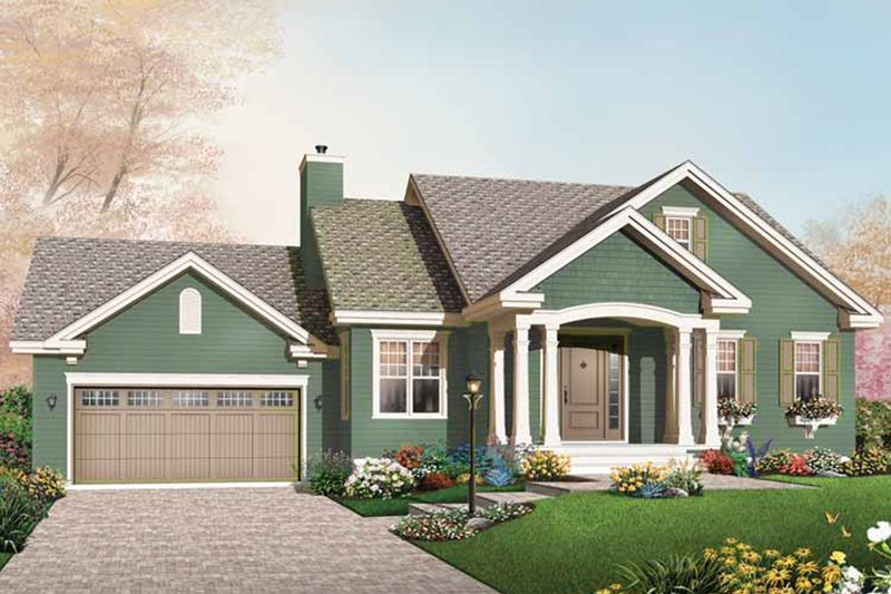 Architectural House Design - Bungalow Exterior - Front Elevation Plan #23-2611