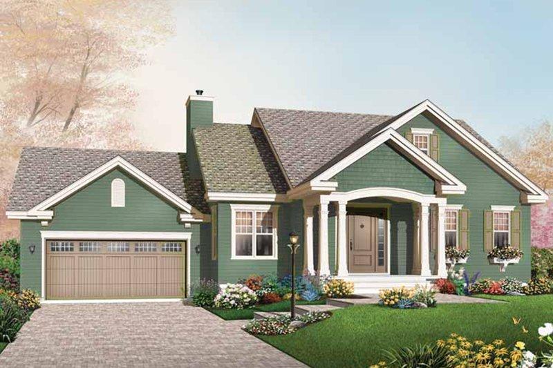 House Plan Design - Bungalow Exterior - Front Elevation Plan #23-2611