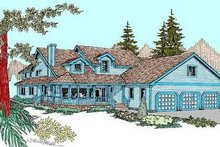 Home Plan - Country Exterior - Front Elevation Plan #60-569