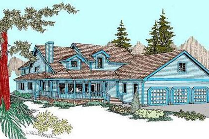 Country Exterior - Front Elevation Plan #60-569 - Houseplans.com