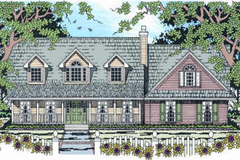 Country Exterior - Front Elevation Plan #42-346