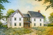 Farmhouse Style House Plan - 4 Beds 3 Baths 3291 Sq/Ft Plan #485-4 Exterior - Front Elevation