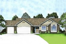 Ranch Exterior - Front Elevation Plan #58-174
