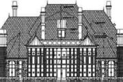 European Style House Plan - 3 Beds 3.5 Baths 6431 Sq/Ft Plan #119-170 Exterior - Rear Elevation