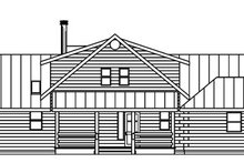 Log Exterior - Rear Elevation Plan #124-766
