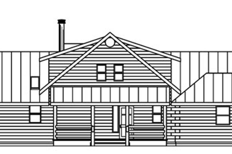 Log Exterior - Rear Elevation Plan #124-766 - Houseplans.com