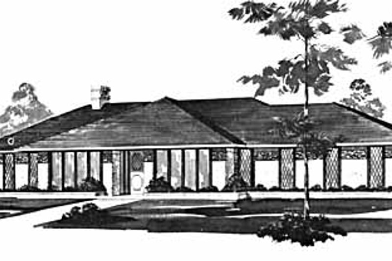 Modern Exterior - Front Elevation Plan #36-388