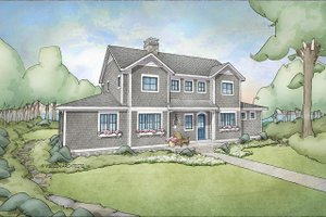 Cottage Exterior - Front Elevation Plan #928-302